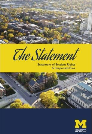 The Statement of Student Rights & Responsibilities Cover
