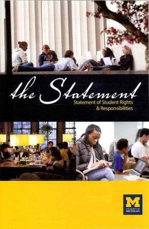Cover of the Statement of Student Rights and Responsibilities