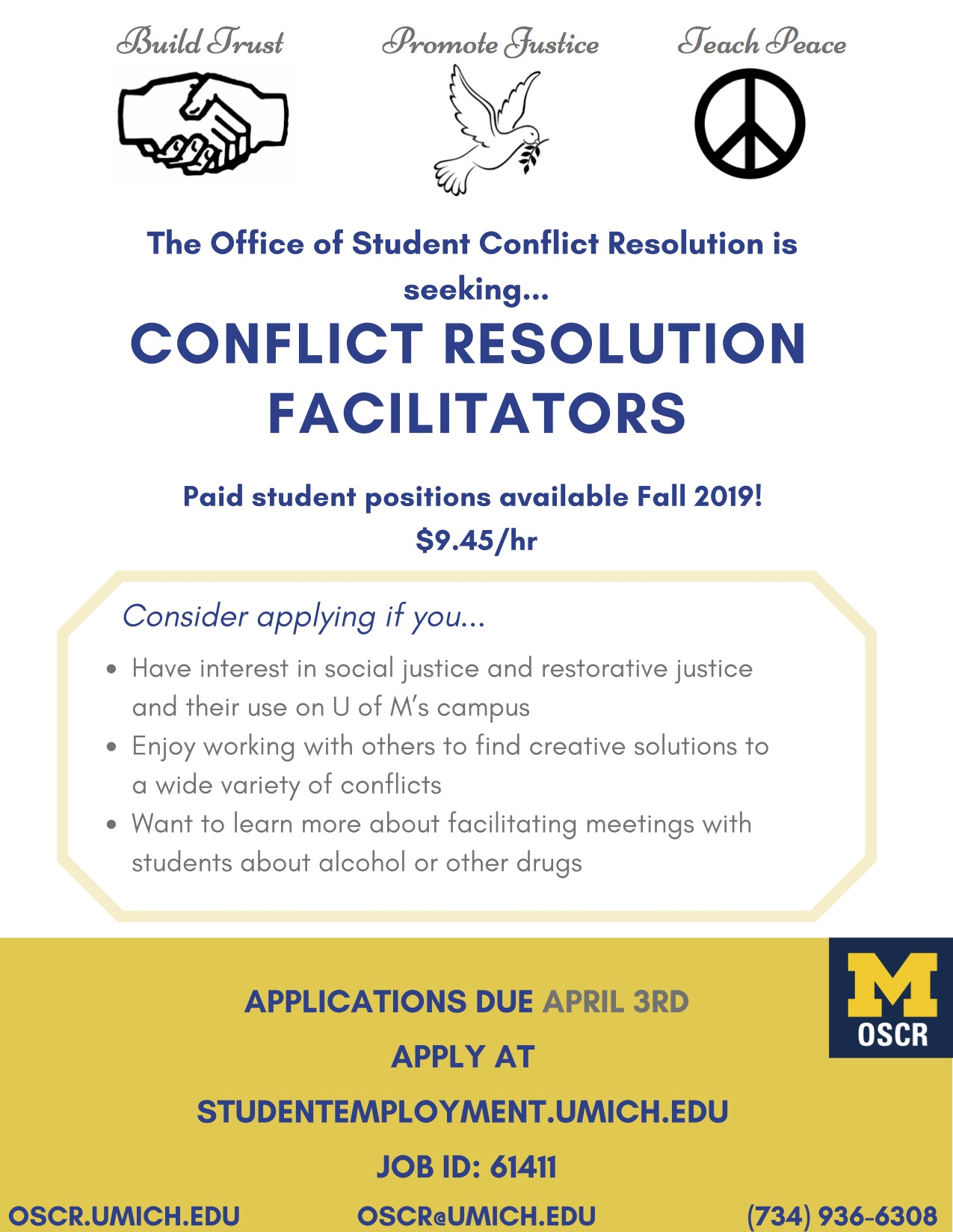 Conflict Resolution Facilitator Job Posting Flyer
